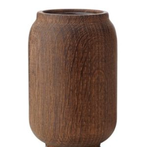 Applicata Poppy Vase Mørk Eik 14 cm