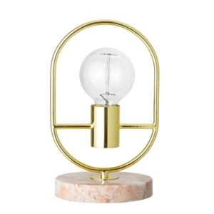 Bloomingville Bordlampe Gold Metal Ø17 cm