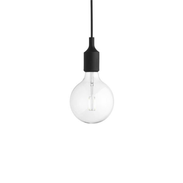 E27 Pendant Black m/LED pære