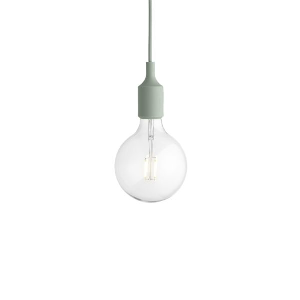 E27 Pendant Light Green m/LED pære