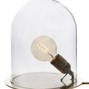 Ebb & Flow Glow in a dome medium bordlampe – Transparent, brass