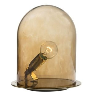 Ebb & Flow Glow in a dome small bordlampe – Chestnut brown, brass