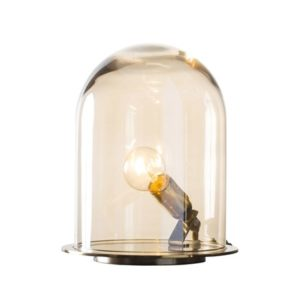 Ebb & Flow Glow in a dome small bordlampe – Golden smoke, brass
