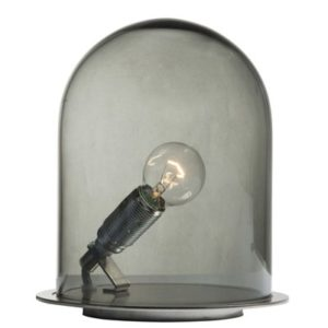 Ebb & Flow Glow in a dome small bordlampe – Smokey grey, brass