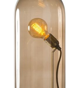 Ebb & Flow Speak up dome medium sølv bordlampe – Chestnutbrown