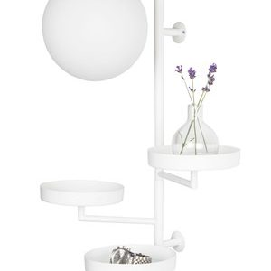 Globen Lighting Astoria vegglampe – Mattvit/Opal