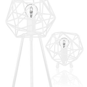 Globen Lighting Bordlampe Diamond Hvit