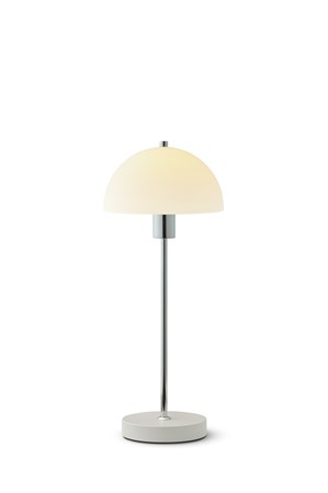 Herstal Vienna bordlampe hvit glass E14