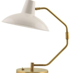 House Doctor Desk bordlampe - Hvit/messing