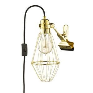 Work Lamp Black/Brass