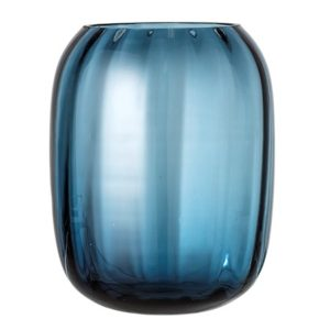 Bloomingville Vase Blue Glass Ø20x25 cm