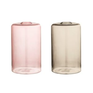 Bloomingville Vase Glass Multi H16 cm 2 stk