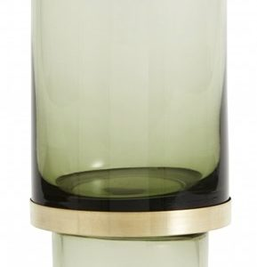 Nordal Stearinlysholder/Vase Glass - Transparent Green