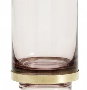 Nordal Stearinlysholder/Vase Glass - Transparent Lavender