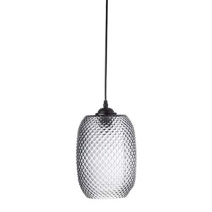 Bloomingville Taklampe Grey Glass