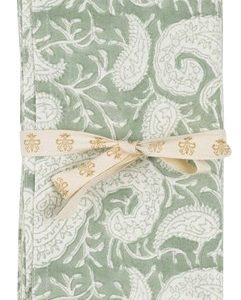 Chamois Serviett Big Paisley 2st - Sea Foam