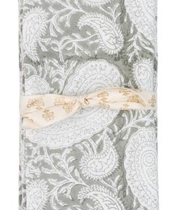 Chamois Servietter Big Paisley 2stk - Light Grey