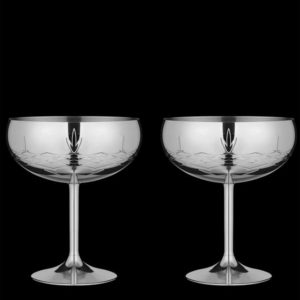 Glass Shiny Coctail glass (2 stk)