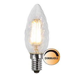 Globen Lighting Lyskilde LED Filament Kron Vridd Klar 3,2W Dimbar E14