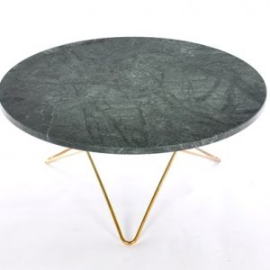 Big O table spisebord - Green indio/brass