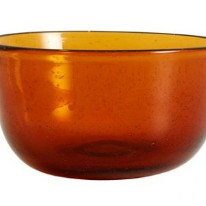 Airy Skål Glass Amber