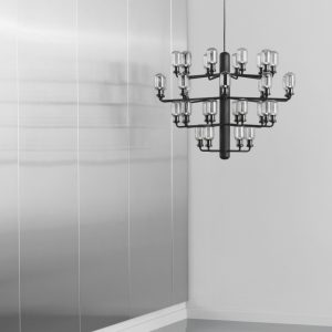 Amp Chandelier Large, Smoke & Black