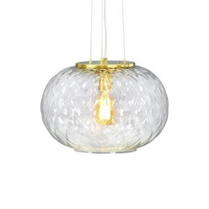 Boutique Taklampe Clear/Brass