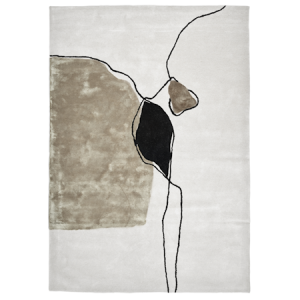 Abstract Ivory Teppe 170x230 cm