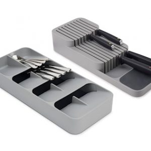 DrawerStore 2-pakning Large Cutlery & Knife Organizer Set