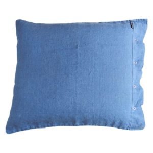 Lovely linen putetrekk – Denim blue