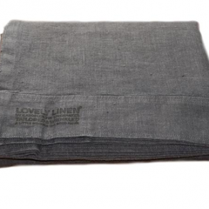 Lovely linen sengetøy – Dark grey