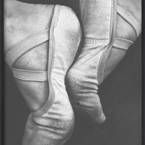 Faded Ballet Shoes B&W
