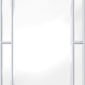 Speil Pimlico Glass Panelled Wood Misty Hvit 79x112 cm
