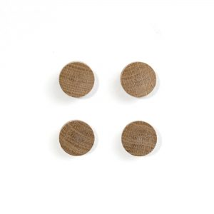 Wall Wood Magnets 4-pack