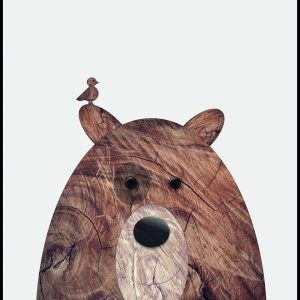 Wood bear Plakat