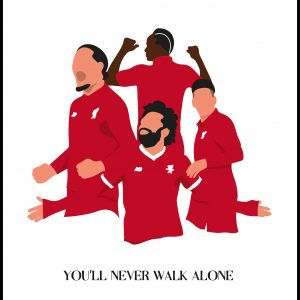 You Will Never Walk Alone-Liverpool Players Plakat