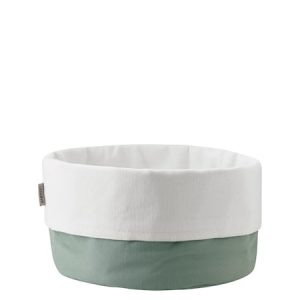 Bread bag, large – dusty green/white