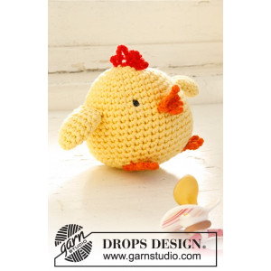 Chicken Little by DROPS Design - Påskekylling Hekleoppskrift 12 cm