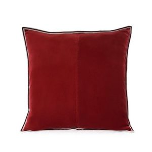 Putevar New Red Striped Edge Velvet 50 x 50 cm