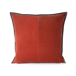 Putevar Orange Striped Edge Velvet 50 x 50 cm