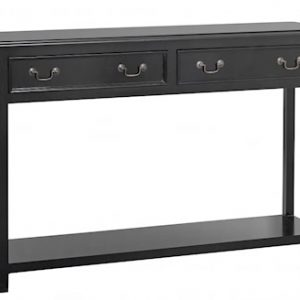 Console with drawers - black