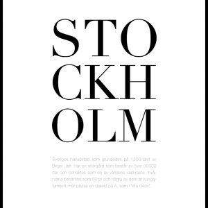 By - Stockholm Plakat