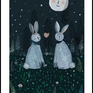 Rabbits in the Forest Plakat